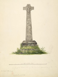 Cross at the West end of the ancient monastery of Oransay